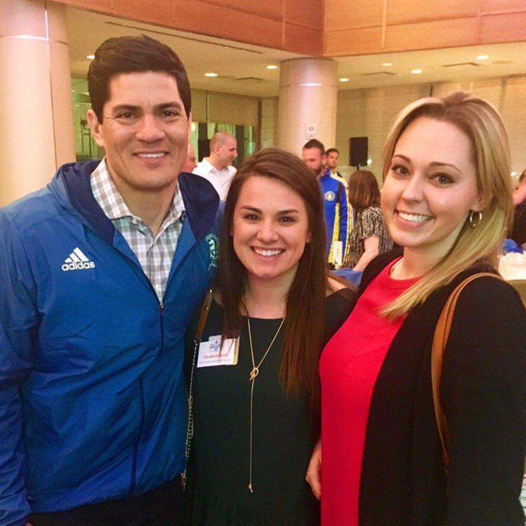 #TeammateTuesday - Meet alumni runner, Elizabeth Iorio (center), who runs in memory of her grandfather & in honor of her friend, Megan (R), who is a stroke survivor. Elizabeth ran her 3rd #BostonMarathon w/ us in April & we love having her on our team!  #WeSurviveWeRun<br>http://pic.twitter.com/ZrrZwKTOc7