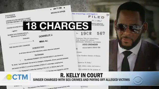 Singer R. Kelly is due in court this afternoon in connection with his sex crimes charges. Last week, federal prosecutors charged Kelly with new crimes, including paying off alleged victims and child pornography.   @adrianasdiaz has the latest: https://cbsn.ws/30GoX7z
