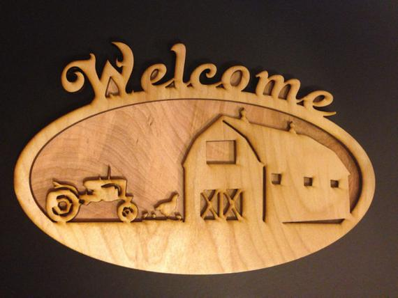 Rural #Welcome #Sign #unique #custom #gift #laser #etsy https://etsy.me/2yQZMBn