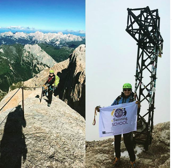 Marmolada-Punta Penia, 3343 metri Etwinning is like Mountains: it fills your heart with joy, it opens your mind, it broadens your horizons and makes  you meet outstanding new friends on your way! #neverstoplearning #etwinning #Erasmus #foreveryoung #nevergiveup