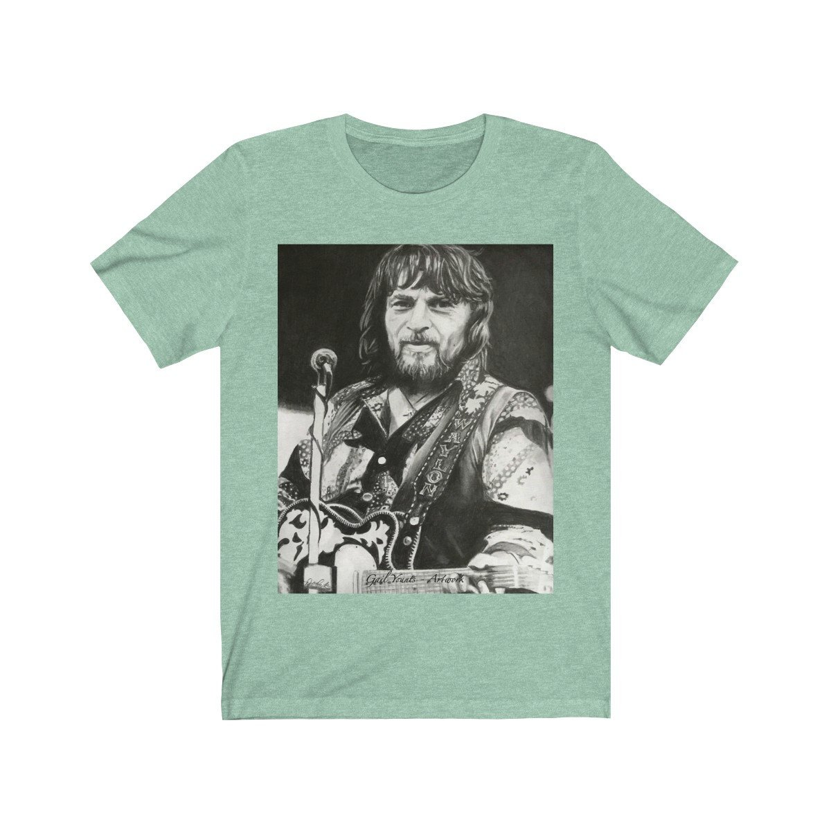 Excited to share the latest addition to my #etsy shop: Waylon Jennings Drawing Unisex Jersey Short Sleeve Tee https://etsy.me/2ka290b #clothing #shirt #gailyountsartwork  Multiple colors and size options!