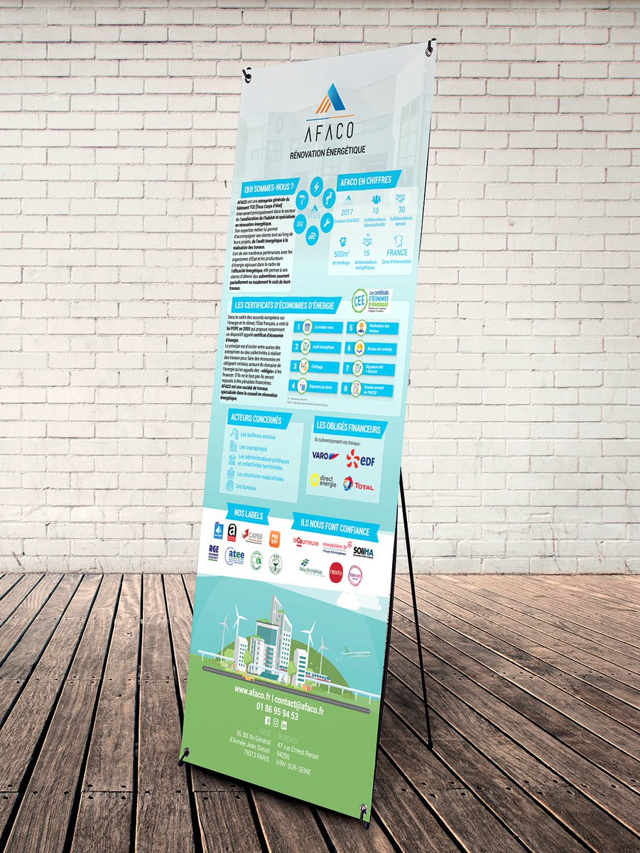 #graphicdesign #printing #event #rollup #xbanner Réalisation d'un roll-up (X banner) pour entreprise. @niyadesign_fr https://t.co/gs1P86ZPUK
