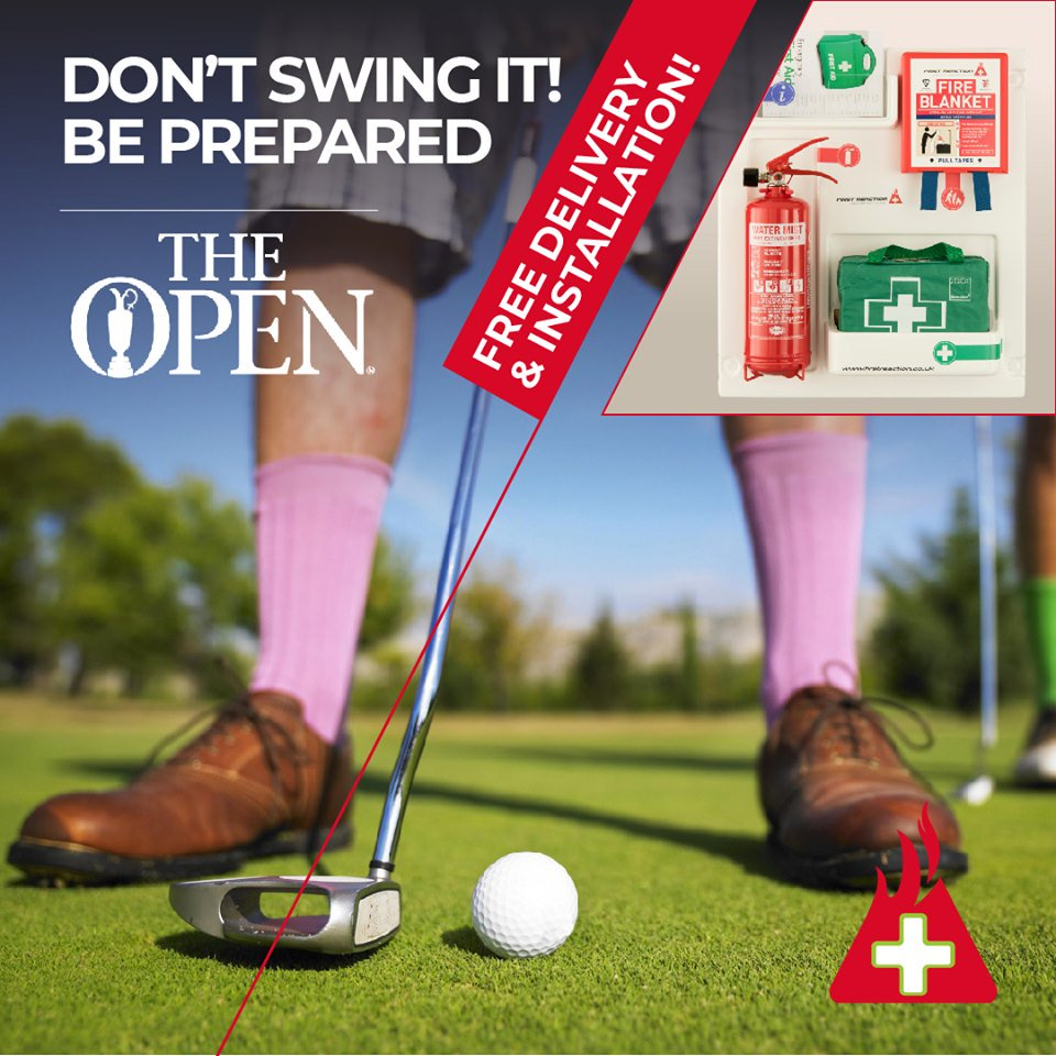 Are you prepared for #TheOpen in #RoyalPortrush?   Go Go Go https://firstreaction.co.uk/   DO NOT DELAY!  #Golf #TheOpenChampionship #Portrush #NorthernIreland #Antrim #L4L #retweet #Share #Like #FireSafety #HomeSafety #HealthAndSafety #FirstAid