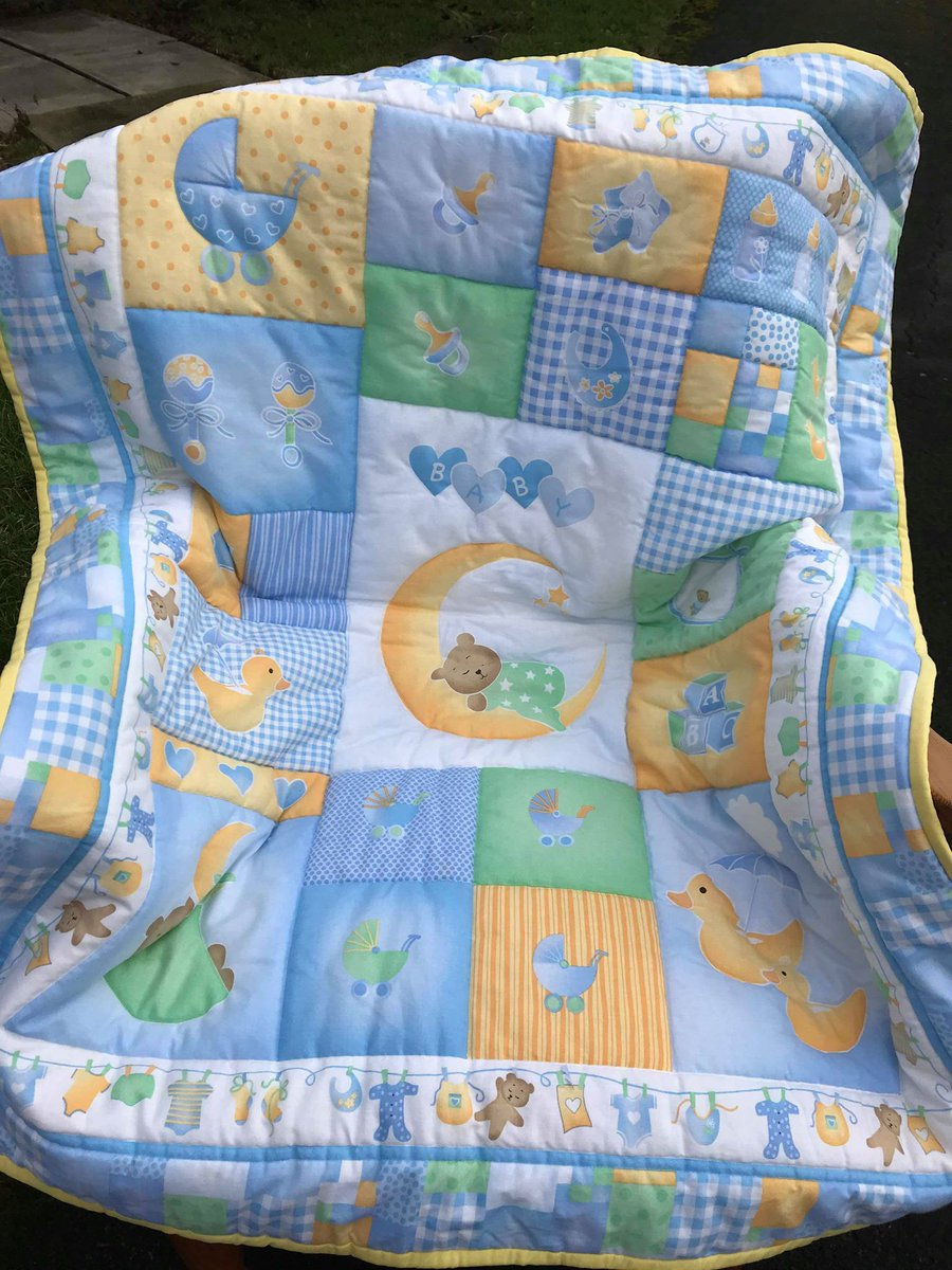 https://www.etsy.com/uk/shop/QuiltsForDreams …  #handmade #HandmadeHour #tradition #bluenursery #babyshower #TuesdayMotivation #pretty #nurserydecor #baby #babygift #womaninbiz
