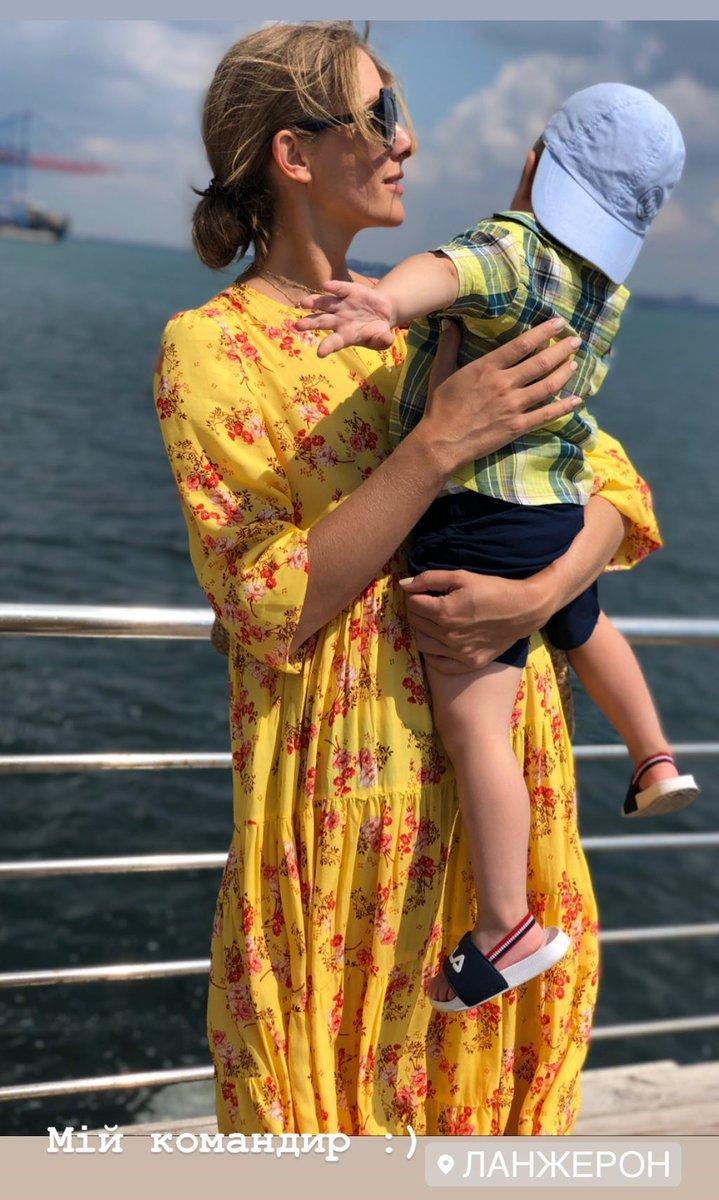 Катя Осадчая с сыном Ваней