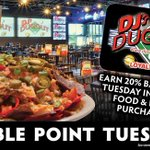 It's Double Point Tuesday! Loyalty Members earn 20% back every Tuesday in July on Food & Drink purchases! Not a member? Stop in & sign up today!