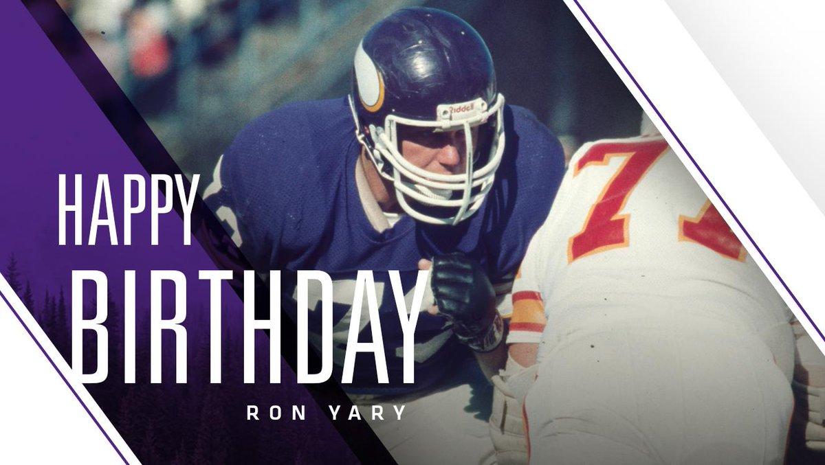 Happy birthday to @ProFootballHOF T Ron Yary!