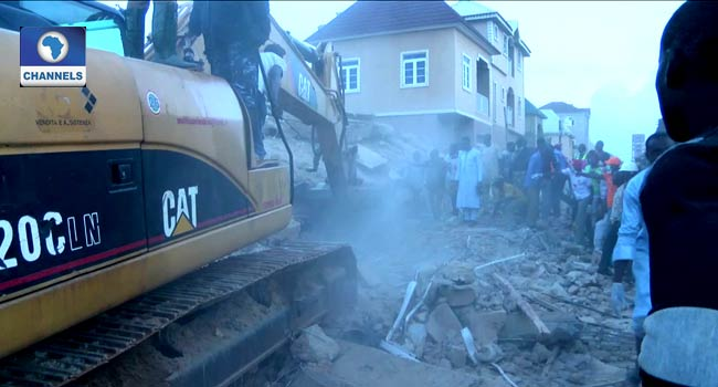 Image result for nema at jos collapsed building