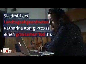 Eine Morddrohung aus der Schweiz gegenüber der Politikerin @KatharinaKoenig. Deutsche Neonazis und Neonazis aus der Schweiz vernetzen sich; hier unsere aktuellen @reportMuenchen-Recherchen: