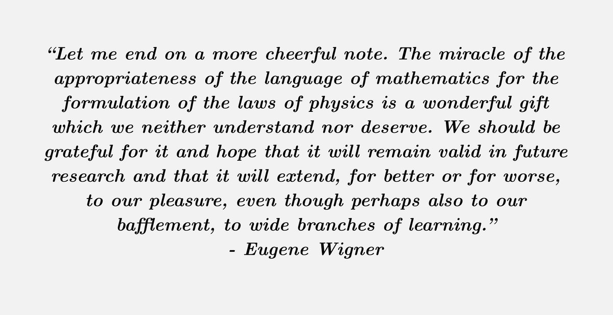 fermats library on twitter paper the unreasonable effectiveness  an essay by nobel prize winning theoretical physicist eugene wigner