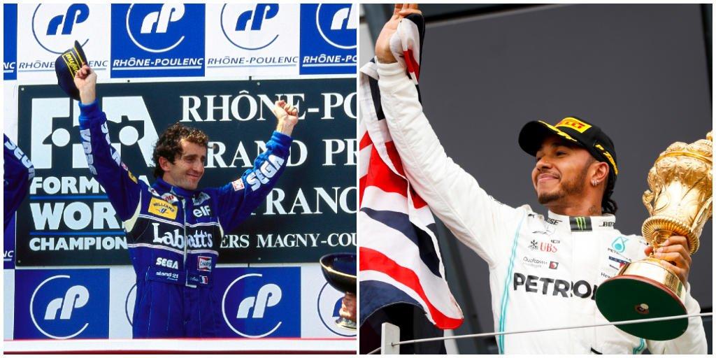 https://t.co/zqlX0AbvRo: MOST WINS AT HOME GP 🏆  6 Prost_official(🇫🇷) 6 LewisHamilton(🇬🇧) 5 Jim Clark (🇬🇧) 4 Juan Manuel Fangio (🇦🇷) 4 nigelmansell(🇬🇧) 4 Michael Schumacher (🇩🇪)  #F1 #F1FastFact https://t.co/MmXaHPiJfl