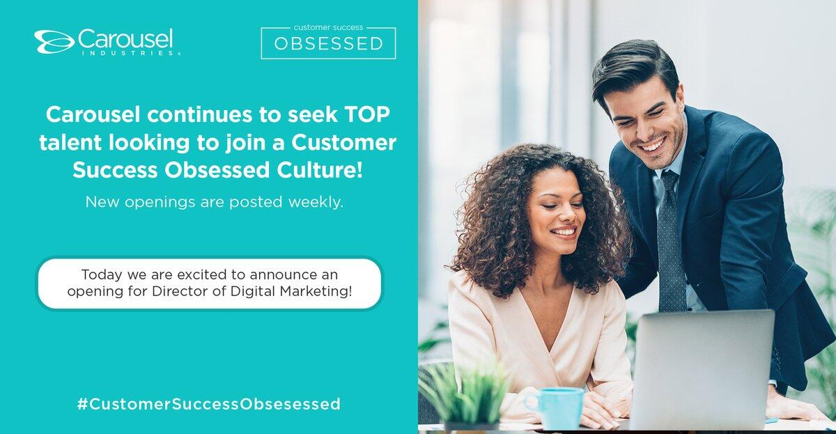 Do you know someone who is interested in expanding their #talents, working alongside some of the best in the industry? If so, they might be the perfect fit for our #CustomerSuccessObsessed team! #Hiring #ApplyNow via @Carousel_Ind https://soch.us/2k3kT1w #carouselsv