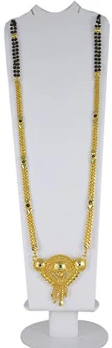 Radhekrishna Big Pendant Golden Mangalsutra For Women  Price : 479 rs.  #fashion #style #stylish #love #MeToo #photooftheday #nails #hair #beauty #beautiful #instagood #pretty #swag #girl #eyes #design #model #dress #shoes #styles #outfit #purse #jewelry #shopping #mangalsutra