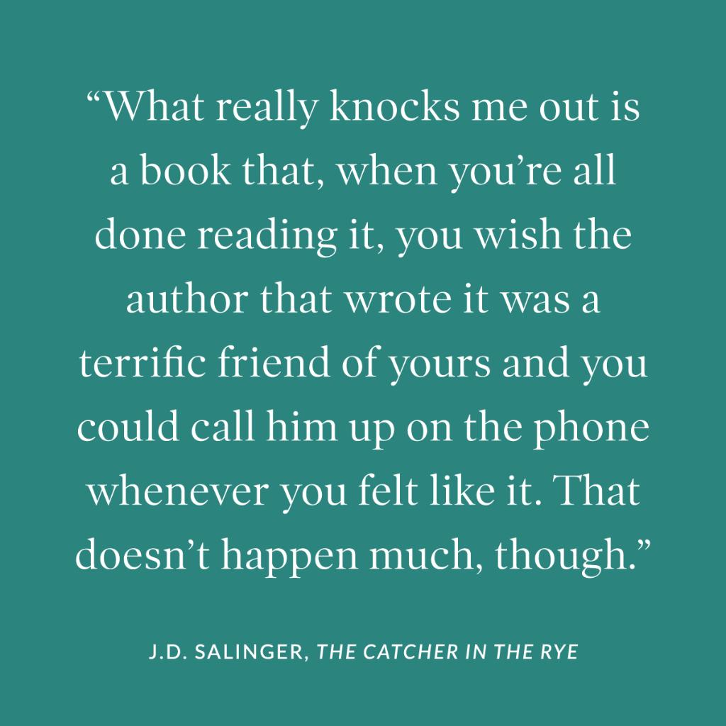 THE CATCHER IN THE RYE was published #onthisday in 1951. #TuesdayThoughts
