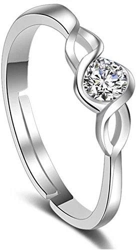 Karatcart Platinum Plated Elegant Classic Crystal Adjustable Ring for Women  #fashion #style #stylish #love #me #cute #photooftheday #nails #hair #beauty #beautiful #instagood #pretty #swag #girl #eyes #design #dress #shoes #styles #outfit #purse #jewelry #shopping #mangalsutra