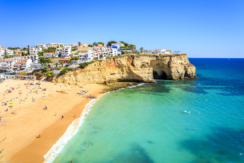 The Algarve is a region of hidden delights, including beaches framed by limestone rocks and simple restaurants serving fresh seafood.  Learn more here: http://bit.ly/2JAroTb  #Portugal #Algarve #traveltips #travelguide #travelinspiration #restaurant #beach #travel #luxurytravel