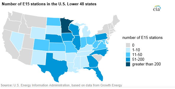 #E15's retail availability is growing every day now that the cleaner, more affordable fuel alternative is approved for use all year long.  @EIAgov highlighted this growth in a blog post today, citing exclusive @GrowthEnergy market data. Read more: https://www.eia.gov/todayinenergy/detail.php?id=40095…