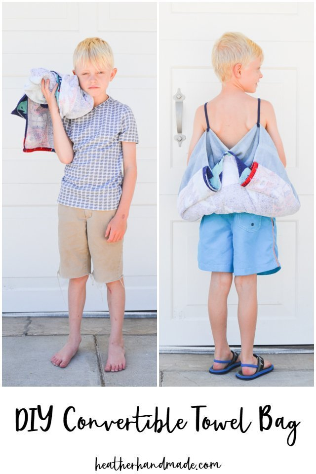 Stop dropping your towel when you have so much to carry and make a DIY convertible towel bag instead! The towel converts to a backpack and then back to a towel! https://www.heatherhandmade.com/diy-convertible-towel-bag/ … #TransformationTuesday #TuesdayThoughts #DIY #Swimming #BeachTowel #Pool #Summer