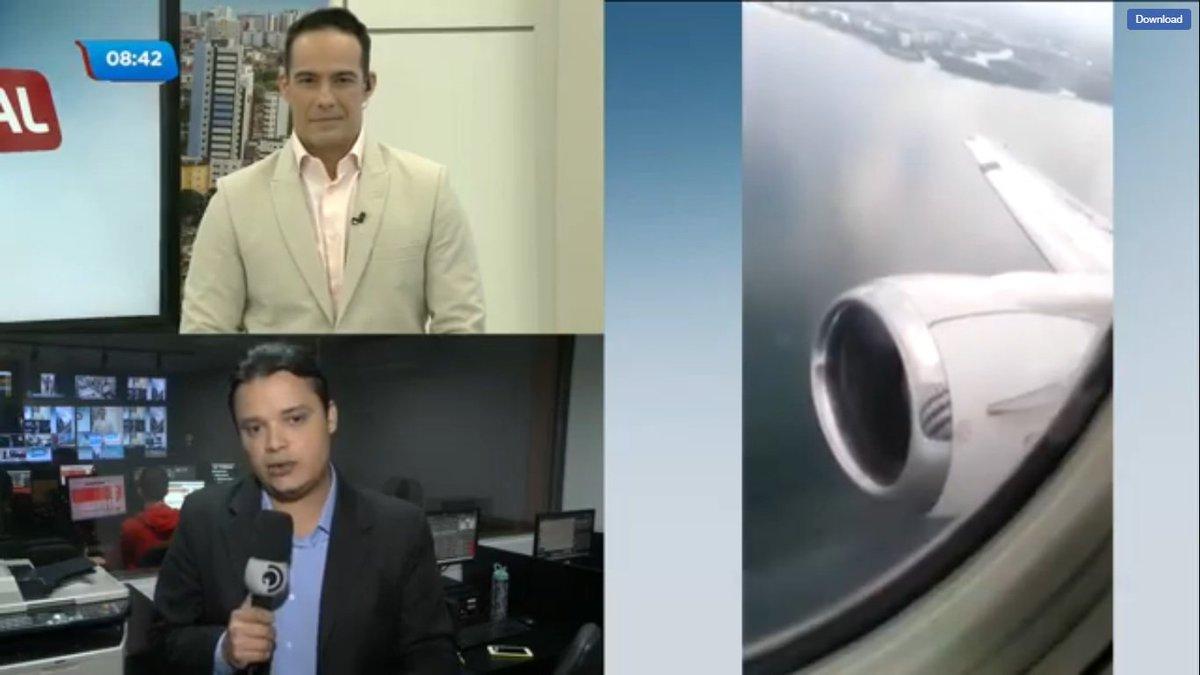 Passáro entra em turbina de avião que levantava voo 😨✈ Qual seria sua reação se estivesse no avião? 👇 #BalançoGeralAL https://t.co/bAY3lYgHFw https://t.co/UXYPuu0YEs