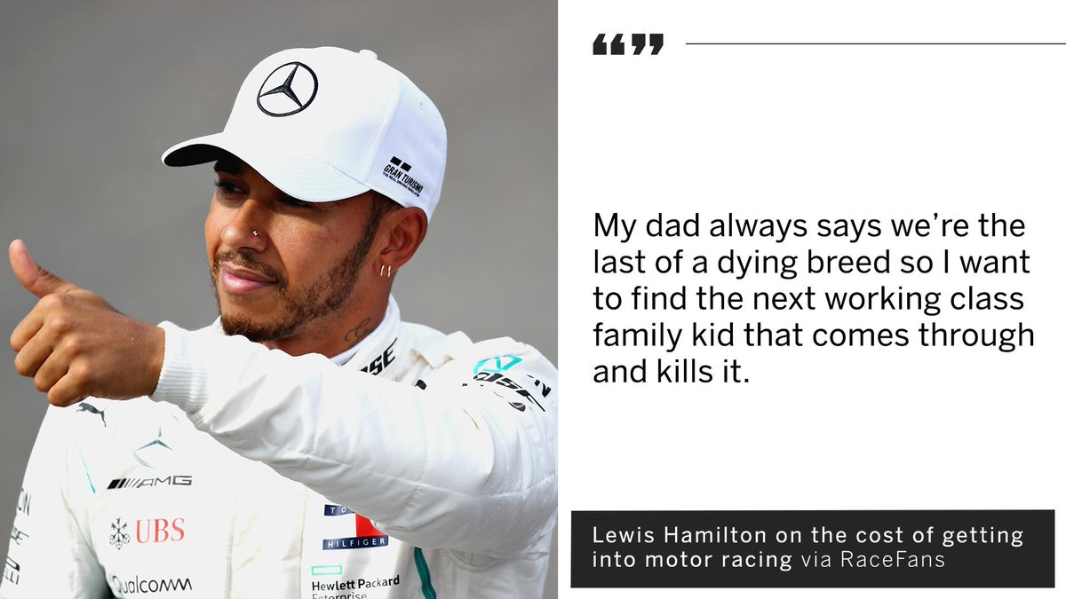 Lewis Hamilton wants to discover F1's next big 'working class' kid.