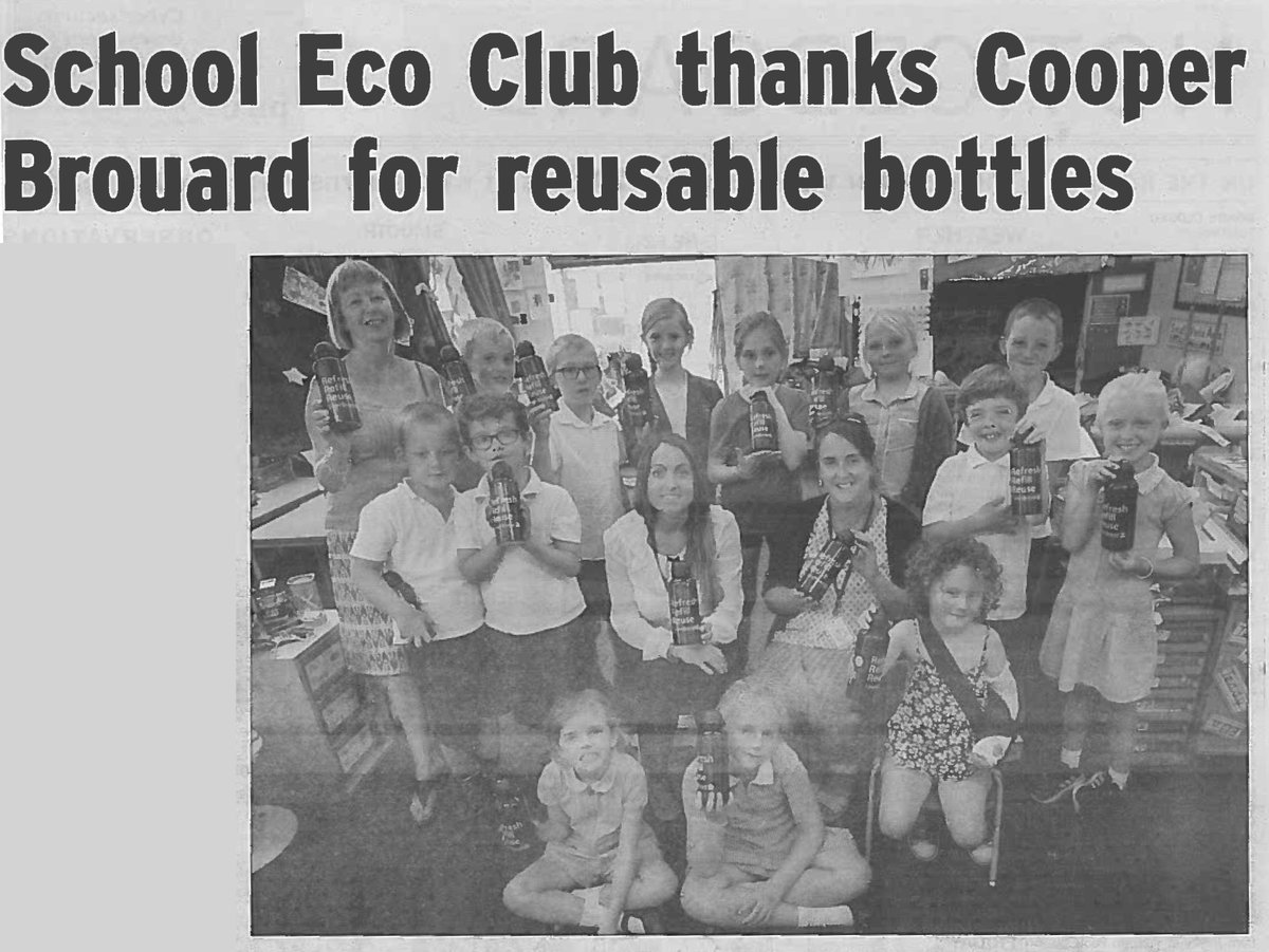 We had a great time meeting the Eco Club @la_houguette and donating refillable water bottles to celebrate #nationalrefillday