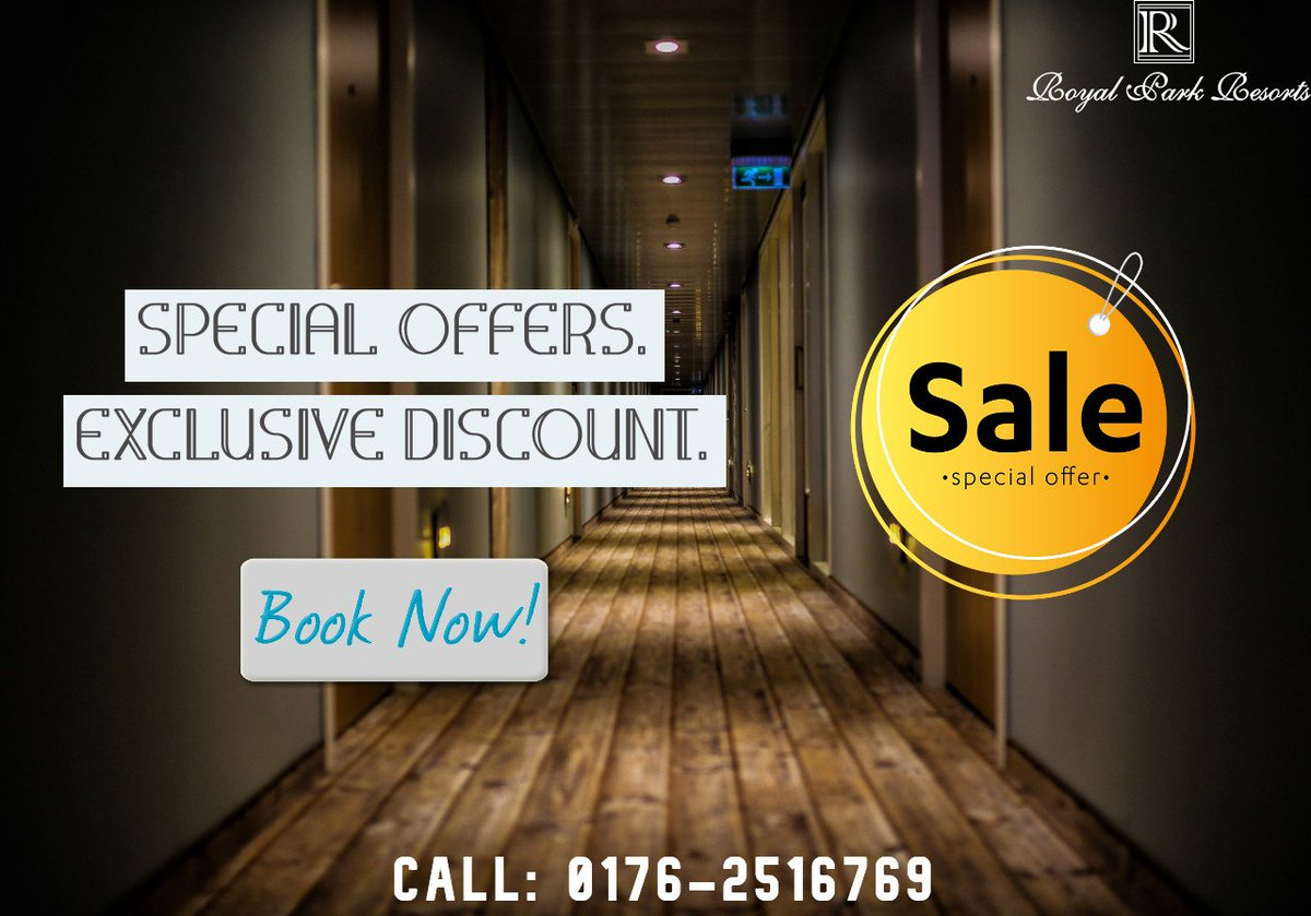 """""""MONSOON OFFER"""" Special Packages. Exclusive Discounts. Complementary Services. BOOK NOW:  http://www.royalparkchandigarh.com Call: +91 9857500040 #hotel #hotelinzirakpur #zirakpur #beautifuldestinations #sunset #travelphotography #travelblog #room #luxurytravel #adventurers #lovetraveling"""