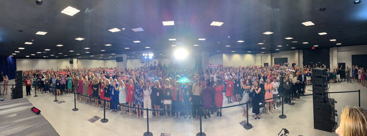 Amazing crowd of women today in Pennsylvania for the launch of #WomenForTrump. Over 1000 showed up to hear @kimguilfoyle @LaraLeaTrump @GOPChairwoman @KatrinaPierson @kayleighmcenany speak.   This crowd is bigger than the Democrat candidates rallies!