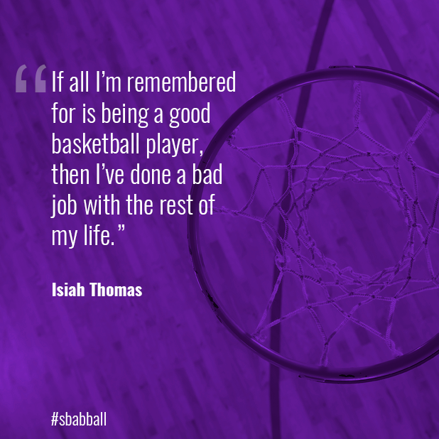 Inspirational Tuesday. Great 🏀 player.   #sbabball #nba #SBAbasketball #obabasketball #torontobasketball #inspirationaltuesday #isiahthomas