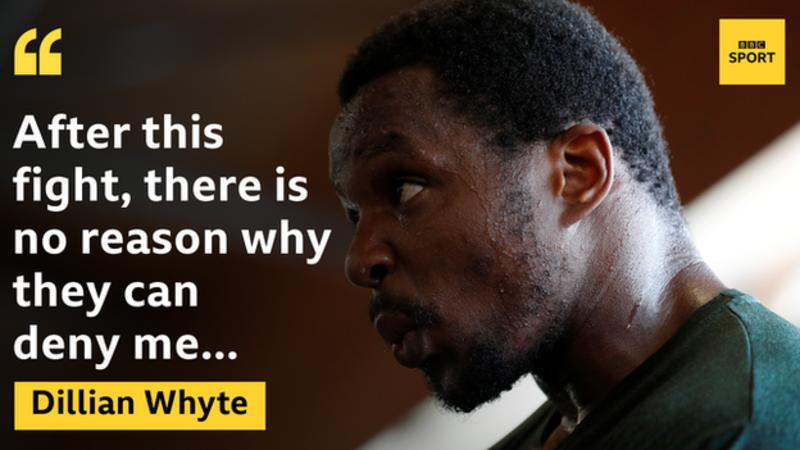 """Britain's Dillian Whyte has dubbed heavyweight boxing """"a joke"""".Here's why ➡https://bbc.in/2XUDURo #bbcboxing"""