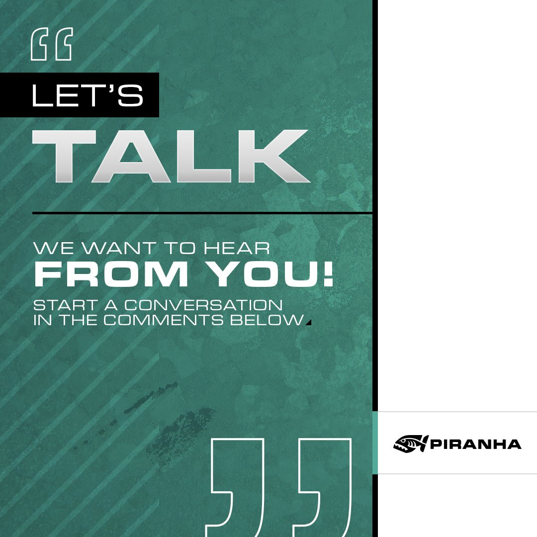 What's on your mind? 💬  Piranha Fabrication Equipment is a brand that cares about our customers and we want to know what is working for you and what isn't.   Start a conversation with us, we want to hear from you! 🗣#PiranhaFab #Piranha #ShopTalk