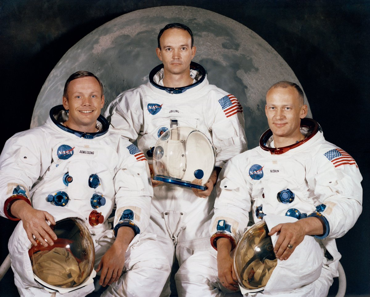 Honored to celebrate the launch of the iconic #Apollo11 trio from @Space_Station. Their dedication & service to space exploration served as an example growing up – especially the former @usairforce airmen whose epic lunar journey inspired me to venture to the cosmos myself.