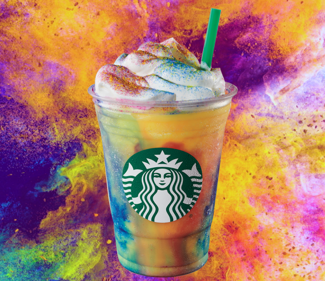 Starbucks' New Tie-Dye Frappuccino Features Yellow, Red, and Blue Powder - https://t.co/RSaXkZpNDo https://t.co/07EVEepWTu