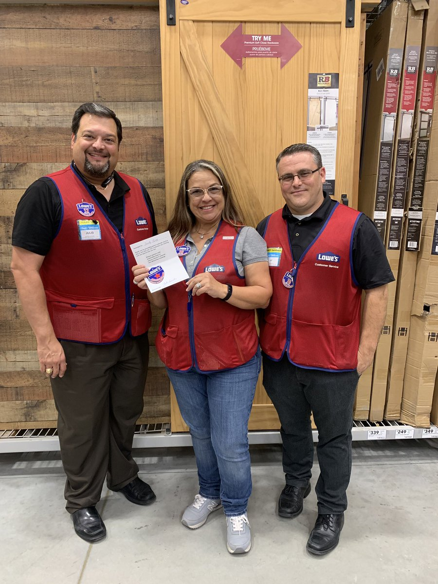 Adriana Ramos On Twitter At Lowes We Love To Recognize Associates District Manager Julio Gonzalez And Store Manager Jj Hinton Giving Out A Star Award To Sandy Torres For Getting 38 Pro