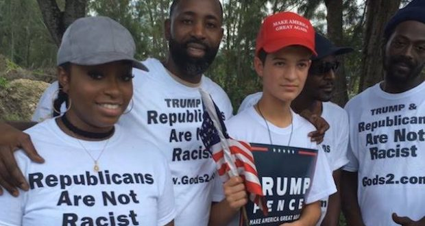 """Why do you only address """"white"""" Trump supporters? Do you think only white people support him?? 😂😂😂"""