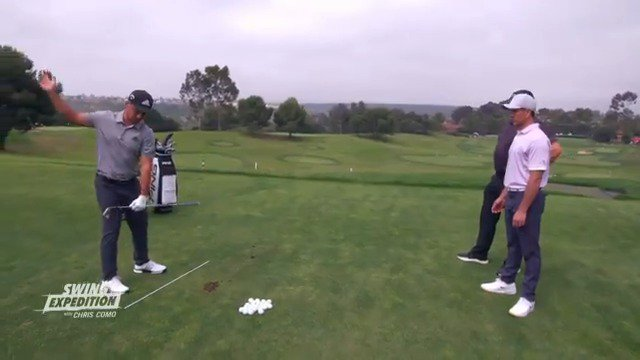 Xander Schauffele tees off in #TheOpen on Thursday at 4:14AM ET. But before he traveled to Northern Ireland, he shared his swing with @ChrisComoGolf on #SwingX! Here's a drill Xander works on with his father and swing coach, Stefan.