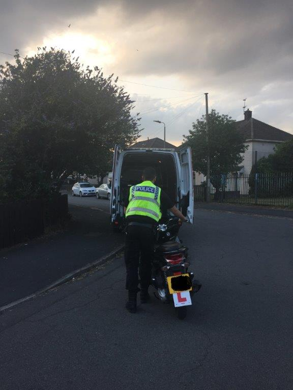 Another uninsured, nuisance motorcycle seized this evening in the Frodingham ward area. #OpYellowfin.