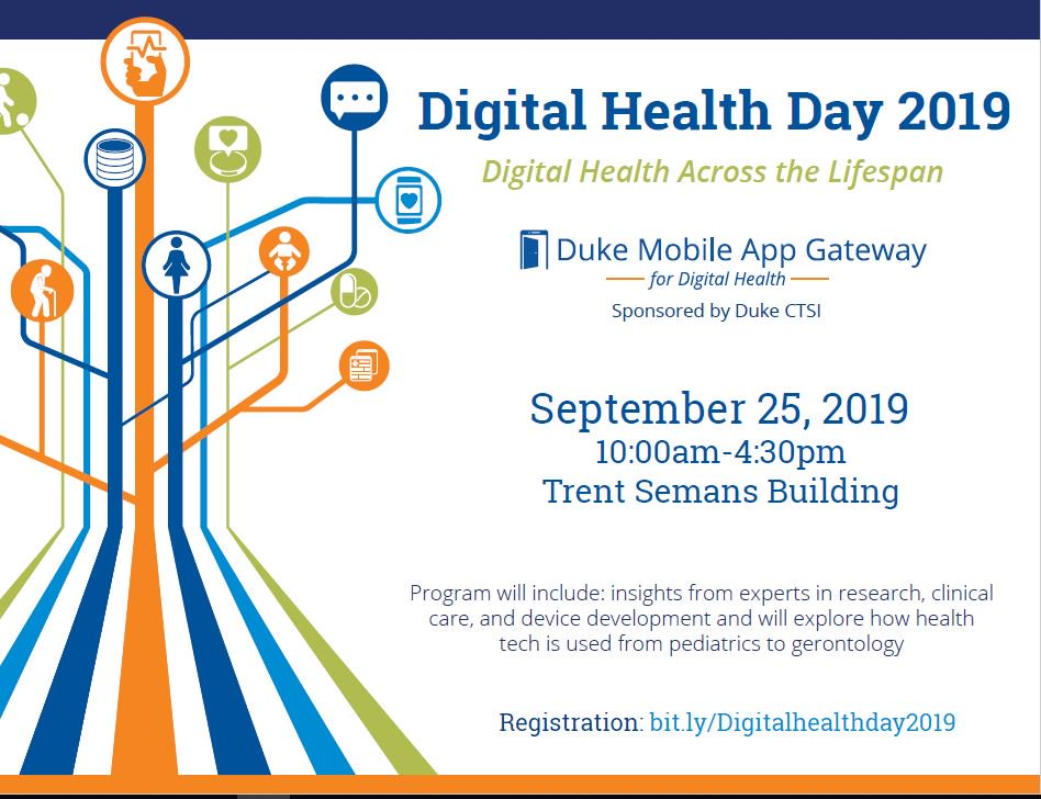 Visit http://bit.ly/Digitalhealthday2019 … for the agenda reveal for Digital Health Day 2019!  Make sure you register in advance-today!  Continue to follow us for exciting updates on featured speakers. @DukeMobileApps  #digitalhealth #Dukeuniversity #Dukehealth