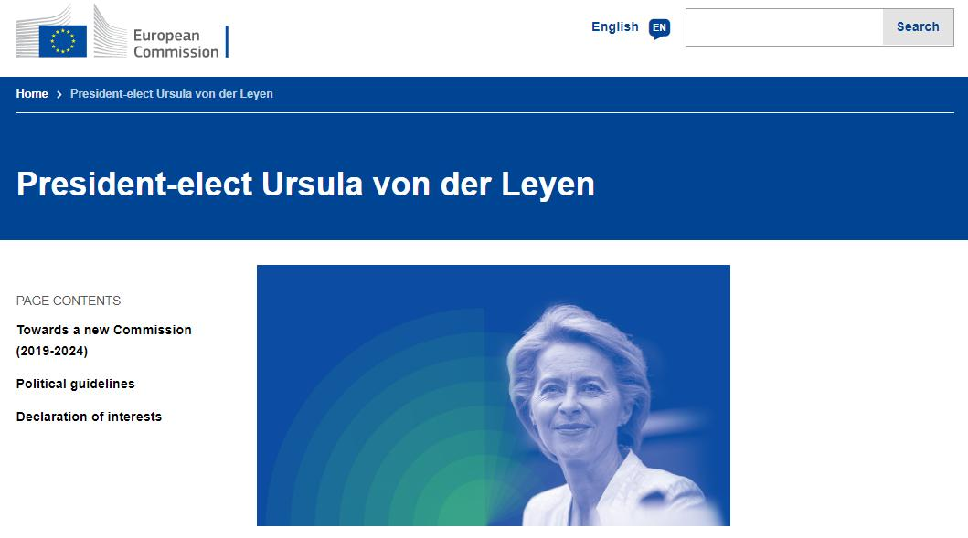 Ursula @vonderleyen , President elect, @EU_Commission 🇪🇺 ➡️Biography, political career, background, political guidelines, declaration of interests, statements, contact and more here: ec.europa.eu/commission/int…