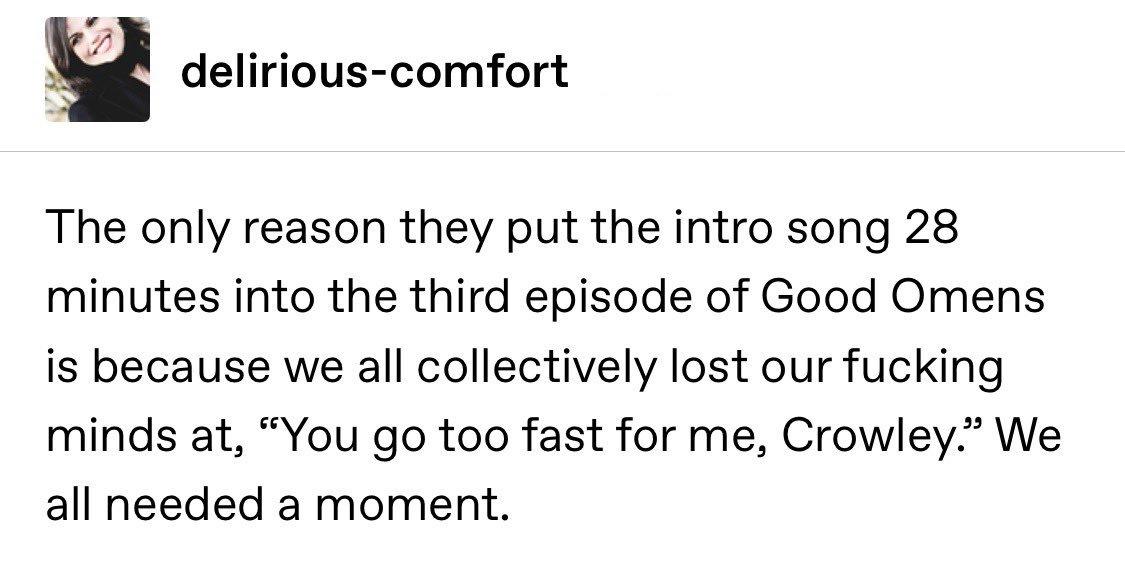 So fucking true!  #GoodOmens  <br>http://pic.twitter.com/ZmZy3BJFRO