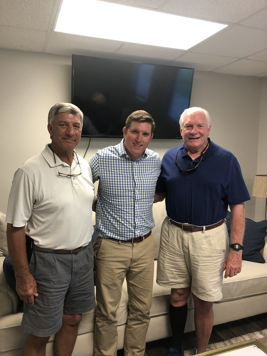 Great meeting today with two fantastic ⁦@CSUBUCCLUB⁩ members. Members are enjoying renewing memberships while getting ready for fall sports.