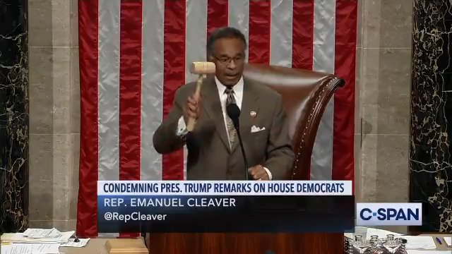 "Rep. Emanuel Cleaver: ""I abandon the chair."" [Drops gavel]"