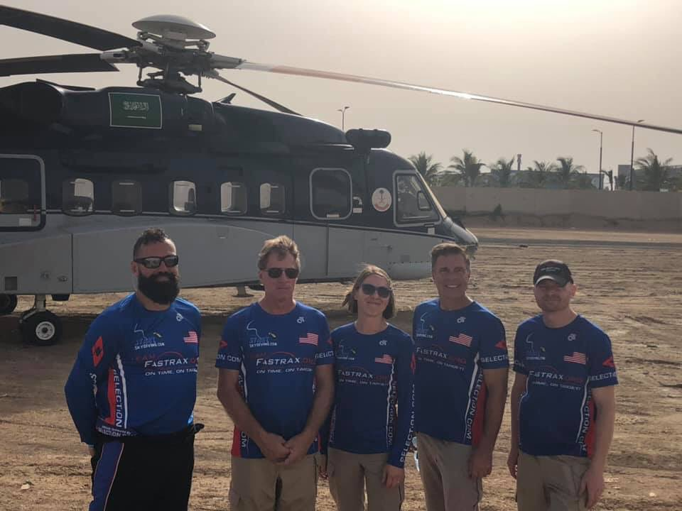 Members of Team Fastrax spent the past two days configuring pyrotechnics for five upcoming shows. We are incredibly honored to have been invited by the Royal Family to perform in the kingdom of Saudi Arabia. #AmericasSkydivingTeam