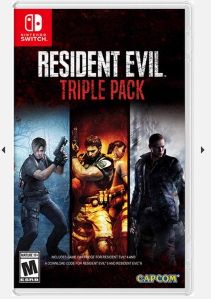 [Upcoming Preorder U.S.] The @RE_Games 4-6 Trilogy Pack has officially been announced by @CapcomUSA_! Please note that 4 will be on the cart and 5 & 6 will be a digital download code. $59.99 and releases 10/29.  Looks like that petition worked 😉: https://www.change.org/p/capcom-bring-resident-evil-4-physically-to-the-nintendo-switch…