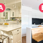 Which of these two #BreakfastNook design do you like better: A or B?🍳Here are a few ideas for incorporating a breakfast nook into your own #kitchen: https://t.co/VBgIW0JfvQ