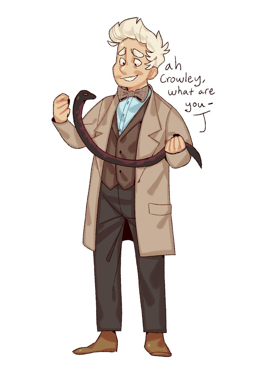i really had to draw good omens,, #goodomens  <br>http://pic.twitter.com/uYcvk2vXxT