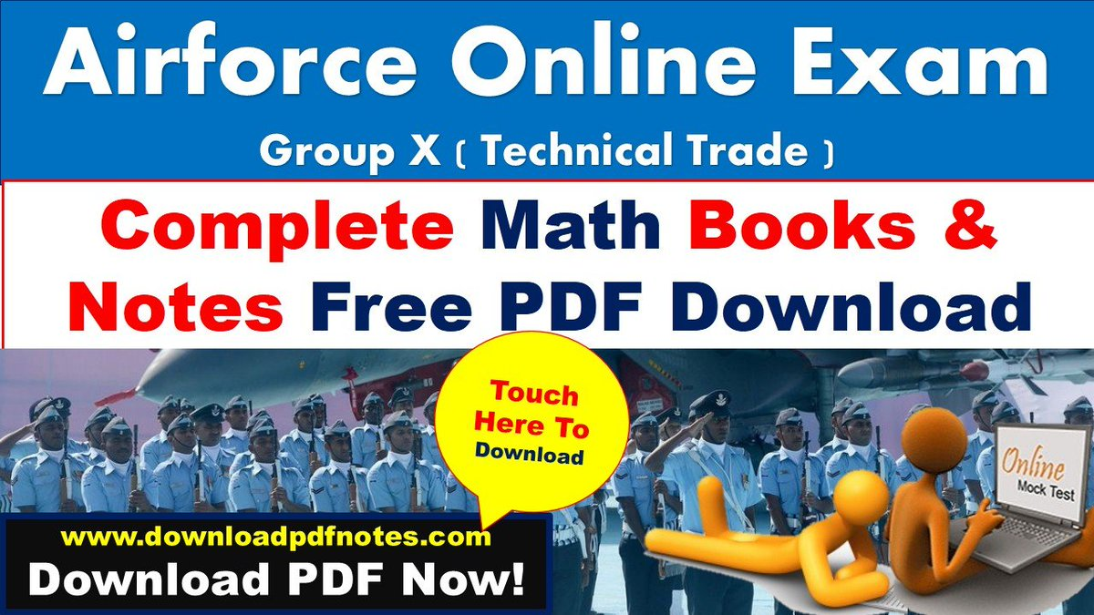 pdf*] Airforce X Group Math complete books   Study Material