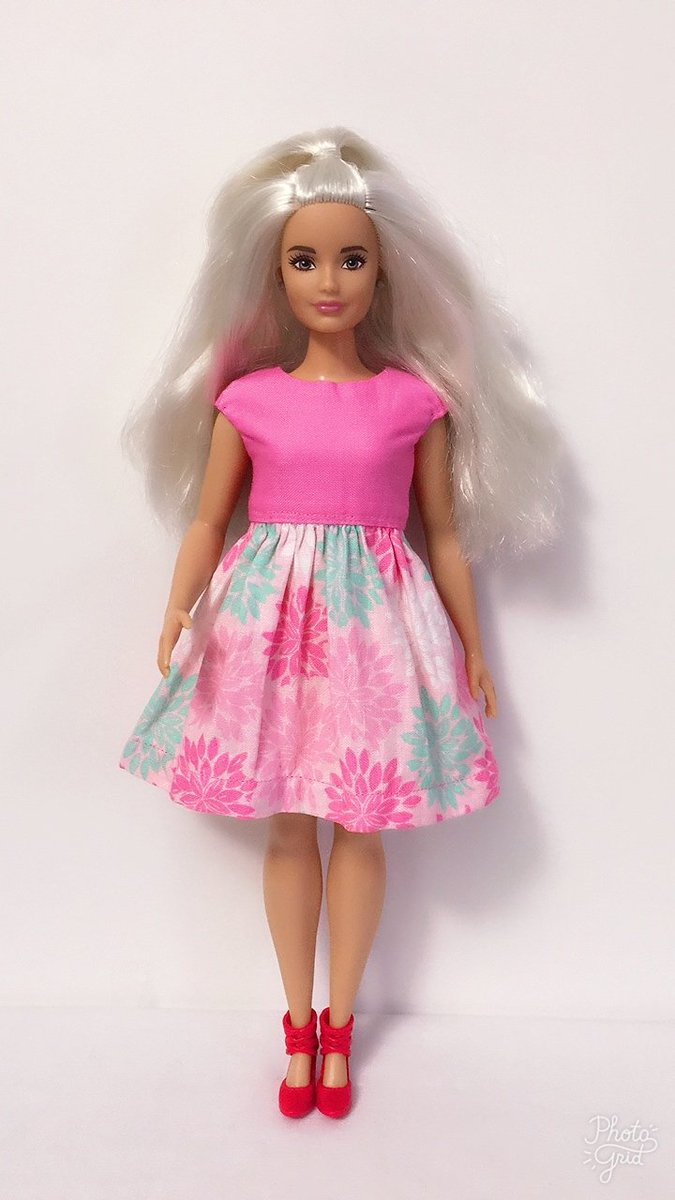 Mattel Curvy Barbie Doll Clothes French Floral Dress Handmade New NO DOLL