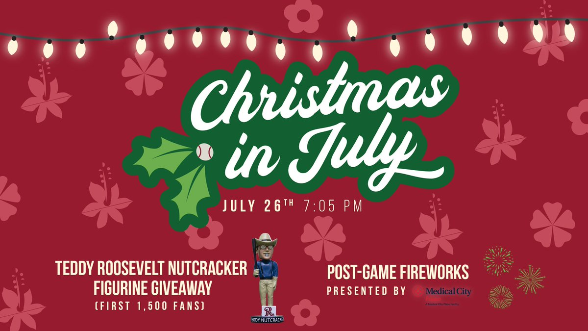 Were getting a 5-month head start on the Christmas celebrations with Christmas in July, complete with a Teddy Roosevelt Nutcracker figurine giveaway. 🎅🎄 bit.ly/2SmcTFt