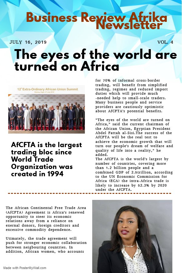 Africa set for a massive free trade area.#AfCFTA