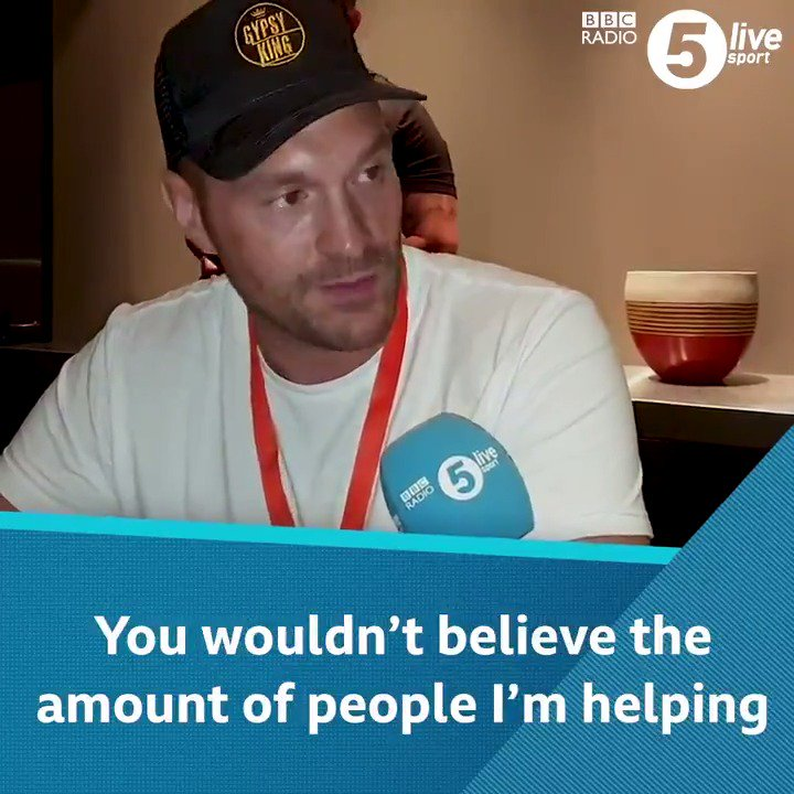 """🗣 """"People won't always be eager to go and see Doctors, but they might be more warm to come and speak to me""""  @Tyson_Fury has been humbled by people's reactions after talking about mental health.  📲🥊 https://bbc.in/2G8T53x"""